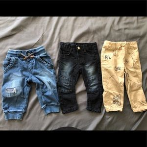 Bundle: 3 pairs of brand name pants for 12 month